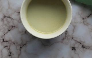 White Hot Chocolate with Matcha