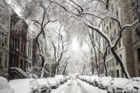 Winter snow city
