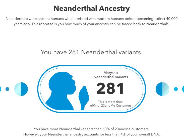 23andMe Neanderthal