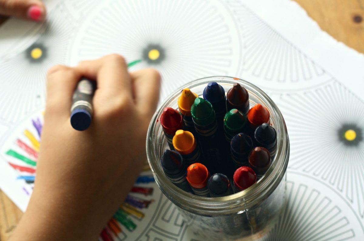 Crayons child school