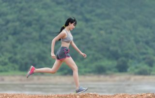 woman running fitness health workout
