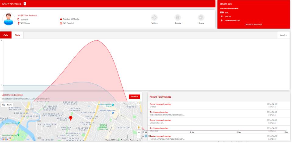 Xnspy Parental Monitoring App