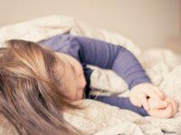 child sleeping sick
