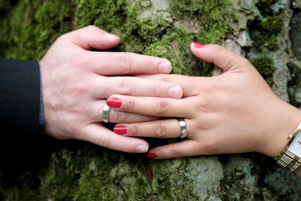 hands rings wedding marriage love couple husband wife